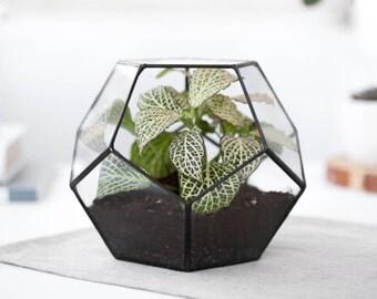 Glasterrarium geometrische Behälter geometrische Pflanzer indoor Pflanzer moderne Terrarium Glas Pflanzer indoor Pflanzer (S10)