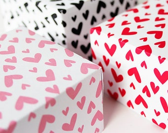 Valentine Hearts Printable Gift Wrapping Paper or Book Cover PDF,  24 x 36 inches - P002