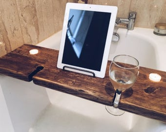 Bath Board - Bath Tray - Book Holder - Tablet Holder - Phone Holder - Birthday Gift - Bath Caddy - Wine Holder - Beer Holder - Caddy