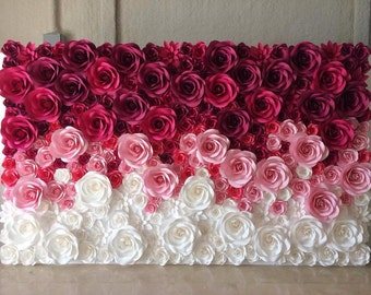 Large Paper Flowers - Paper Flower Backdrop - Giant Paper Flowers Backdrop - Paper Flower Wedding Decor - Paper Flower Wall