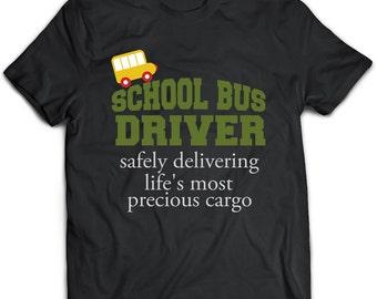 eeccad15 School Bus driver T-Shirt. School Bus driver tee present. School Bus driver