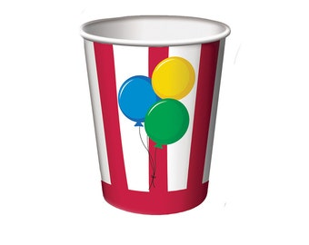 Circus Party Cup, Circus Birthday, Carnival Party, Carnival Birthday, Birthday Party, First Birthday, Circus Theme, Under the Big Top