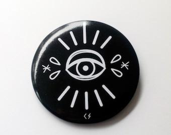 Badge illuminati eye tattoo 56mm circle dark