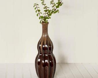 Large Vintage Pottery Vase Mid Century Modern Home Decor Handmade Ceramic Vase Drip Glazed