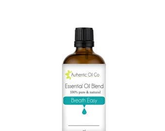 Breathe Easy Essential Oil Blend 100% Pure 10ml 50ml 100ml
