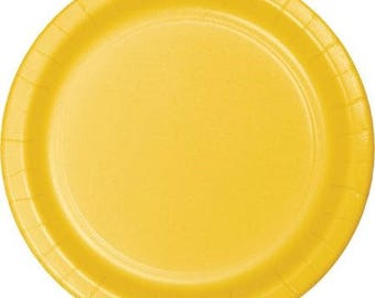Yellow Dinner/Lunch Paper Plates (9in.) 55ct