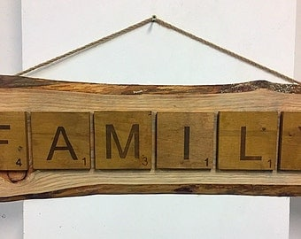Scrabble Family Sign