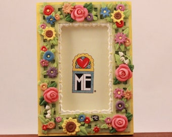 Mary Engelbreit Poly Stone Floral Frame Magnet.