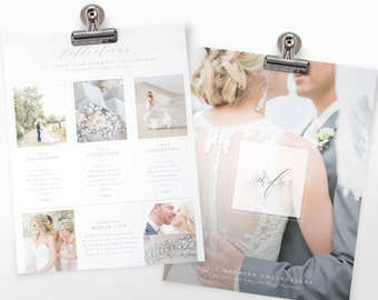 Photography Pricing Guide Template   Wedding Pricing Guide   Photoshop Template For Wedding Photography