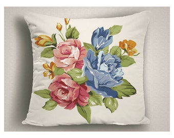 Floral Throw Pillows, Boudoir Pillows, Romantic Pillows, Large Pillow Covers
