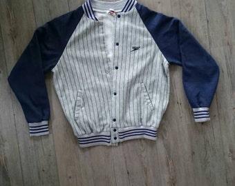 Original vintage 80s Speedo button up sweat shirt