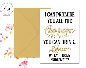 Bridesmaid invite Etsy