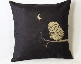 Owl Pillow, Animal Pillow, Pillow Case, Owl