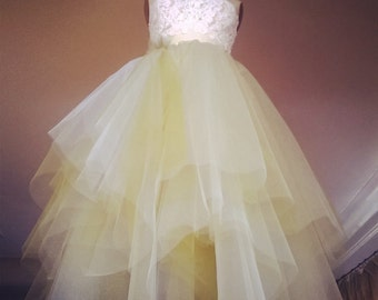 Whimsical multi-tiered TULLE SKIRT