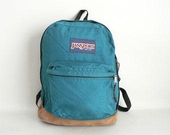 Jansport Canvas Leather Bottom Backpack