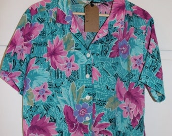 Vintage Tropical Shirt | Large
