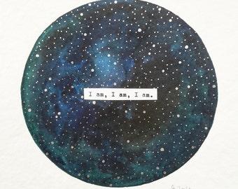 """original painting """"I am, I am, I am"""""""