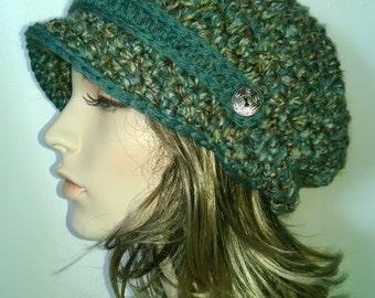 Crochet Newsboy Hat