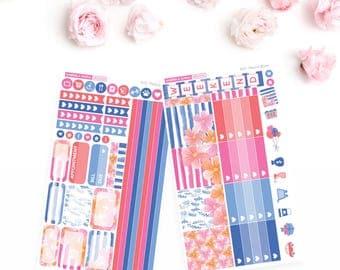 EC HORIZONTAL // Fleurs in Bloom Weekly Sticker Kit