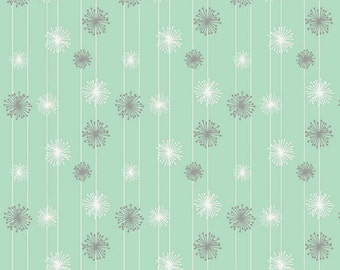 Riley Blake,  Good Natured, Mint Dandelion, by Marin Sutton, 100% Cotton, By the Yard, C4084 Mint