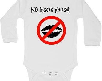 No Kisses Please Onesie, No Kisses Please Shirt, No Kisses Please, No Kisses Shirt, No Kisses