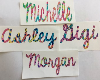 Name/Word Lily Pulitzer Inspired Vinyl Decals