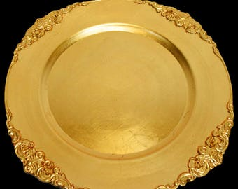 Royal Edge Charger Plates In Gold And Silver For Wedding Celebrations And All Party Decor