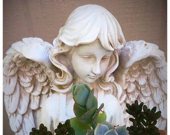 Angel Statues garden decor, home decor ,easterAngels ,AngelStatues, Sculpture Angel, indoor garden,GuardianAngel  Mother's Day gifts