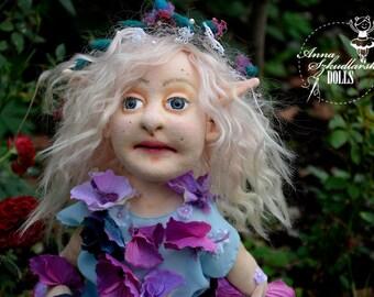 Handmade Doll- Elf -58cm - textile doll- fabric doll- rag doll- home decoration- handmade toy-cloth dolls-fabric dolls