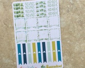 SUCCULENT: Flags Planner Sticker Variety Sheet   i For use with inkWELL Press or Erin Condren Lifeplanners   LucKaty