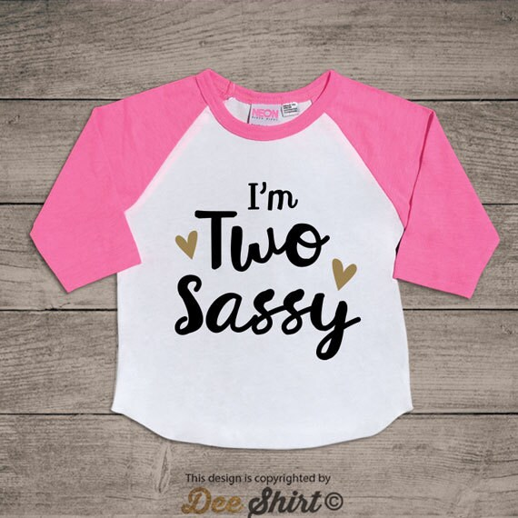 Second birthday t-shirt; 2nd birthday shirt; kids b-day tee; 2 year old infant newborn outfit; two sassy; cute birthday gifts for boys girls