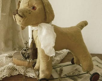 Lovely antique Dog Pull Toy...CHARMANT!