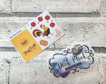 Chinese New Year stickers for Erin Condren, Plum Paper, Filofax, Kikki K (DPD914)