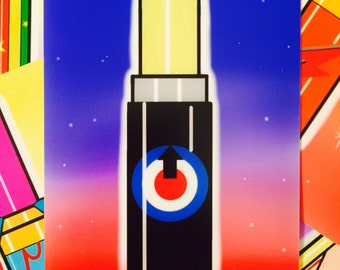 The Who Pop Art / Kitschy Lipstick 4X6 Art Print