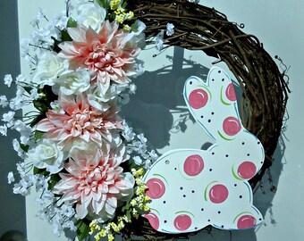 SALE-Easter Wreath, Easter Decor, Easter, Spring Wreath, Summer Wreath, Door Wreath, Grapevine Wreath, Wreath, Easter Bunny Wreath