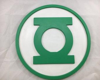 Green Lantern Sign - 12inch round - 3D