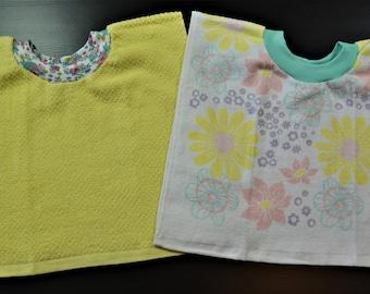 Baby Bibs, Baby/Toddler Tea Towel Bibs, Toddler Bibs