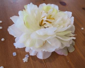wedding flower hair clip, hair accessories for bride or bridesmaid.