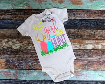 FREE SHIPPING***This Girl Can Hunt Easter Baby & Youth Shirt...Baby and Youth Sizes Availbale