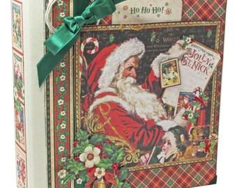 St. Nicholas Graphic-45 Festive Christmas 8x8 Album Kit Class