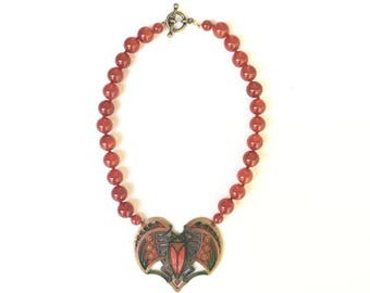 Enamel Scarab Necklace