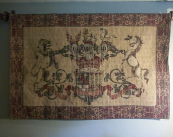 Vintage Coat of Arms Heraldic Tapestry