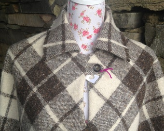 Donegal tweed Poncho