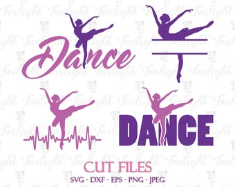Dance Cut Files, Dancer Cut Files, Ballet Cut Files, SVG Cut Files, DXF Cut Files, Eps / Png / Jpeg Files 0065