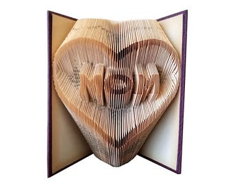 Mother's Day Gift - Folded Book Art - Happy Mother's Day - Mom Gift - Grandma Gift - Daughter Gift - Mothers Day - Unique Gift for Mom