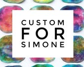 Custom for Simone - 10 tie Dye Facial Rounds/5 Wipes