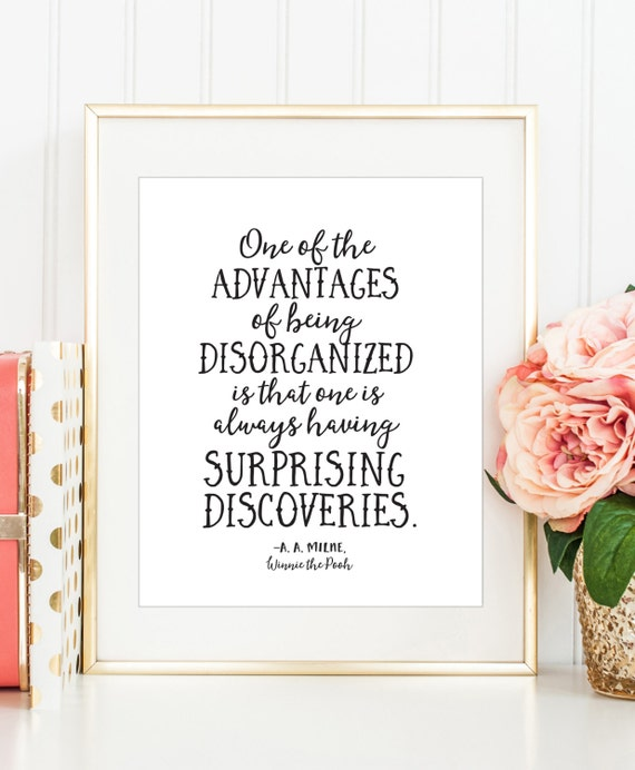 Winnie the pooh picture quote about the advantages of being - Office Decor Funny Print Winnie The Pooh Printable Funny