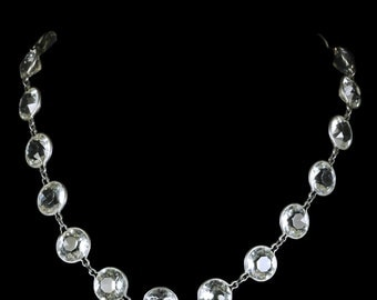 Antique Art Deco Paste Silver Collar/necklace Circa 1920