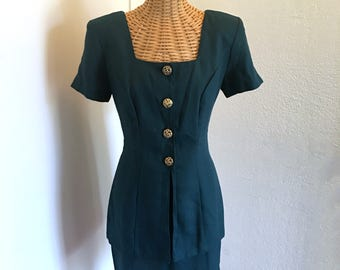 Vintage 1pc Skirt Dress