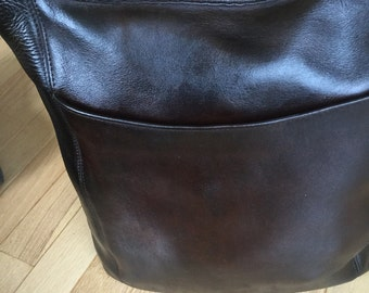 Coach Legacy Brown Leather Shoulder Bag Style 9060